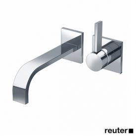 Dornbracht MEM wall-mounted single lever basin mixer with individual escutcheons projection: 200 mm, chrome