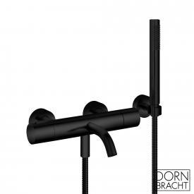 Dornbracht Meta exposed bath thermostat, with hand shower set matt black