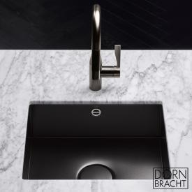 Dornbracht single sink made of glazed steel 550 matt black