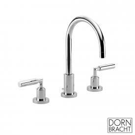 Dornbracht Tara. three-hole basin mixer with pop-up waste chrome