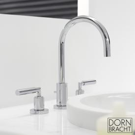 Dornbracht Tara. three-hole basin mixer with pop-up waste chrome