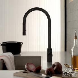 Dornbracht Tara Ultra single lever mixer Pull-down with shower function matt dark platinum