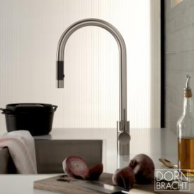Dornbracht Tara Ultra single lever mixer pull-down with spray matt platinum