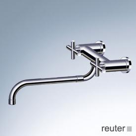 Dornbracht Tara. wall-mounted bridge mixer with pull-out spout chrome