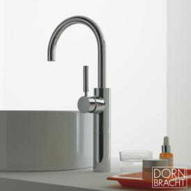 Dornbracht Tara.Logic single lever basin mixer with raised pillar without waste set, chrome