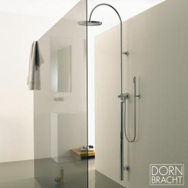 Dornbracht Tara.Logic wall-mounted, overhead shower with single lever shower mixer chrome