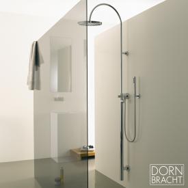 Dornbracht Tara.Logic wall-mounted, overhead shower with single lever shower mixer chrome