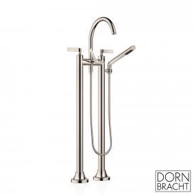 Dornbracht VAIA freestanding two-hole bath mixer with hand shower set matt platinum
