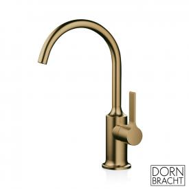 Dornbracht Vaia single lever basin mixer without pop-up waste set, matt brass