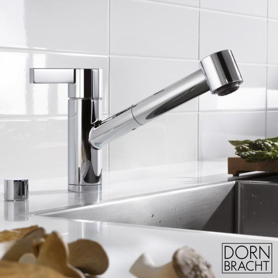 Dornbracht eno single lever mixer with pull-out shower chrome
