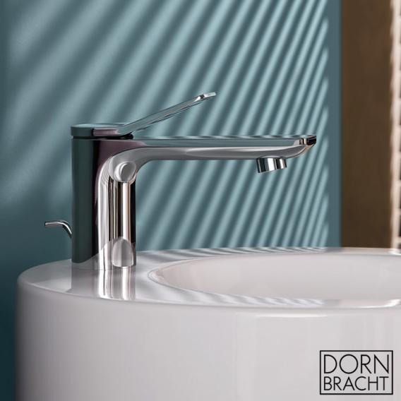 Dornbracht Lissé single lever basin mixer (water saving) with pop-up waste set, chrome