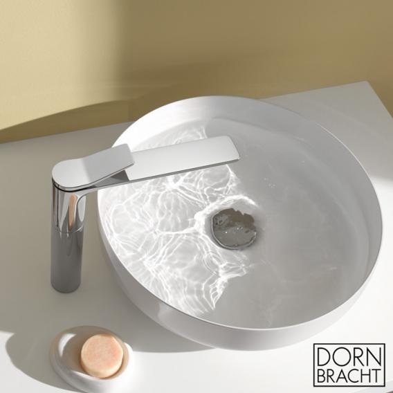 Dornbracht Lissé single lever basin mixer with high spout without waste set, chrome