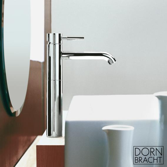 Dornbracht Meta.02 single lever basin mixer with raised pillar chrome