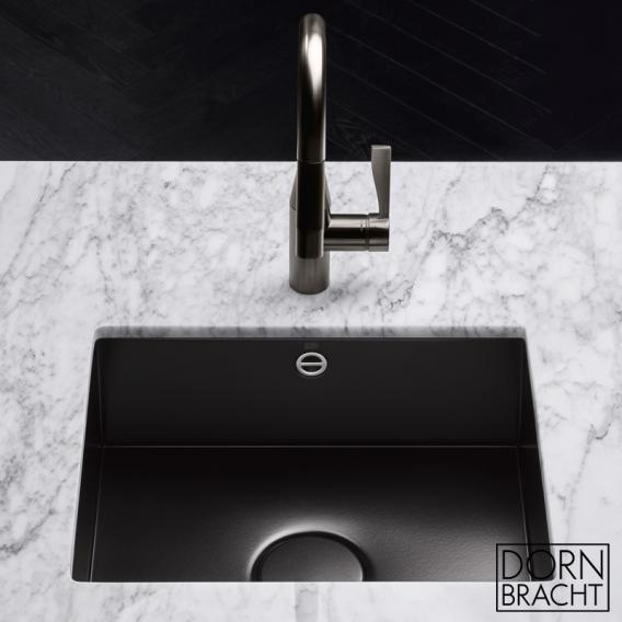 Dornbracht single sink made of glazed steel 400 matt black