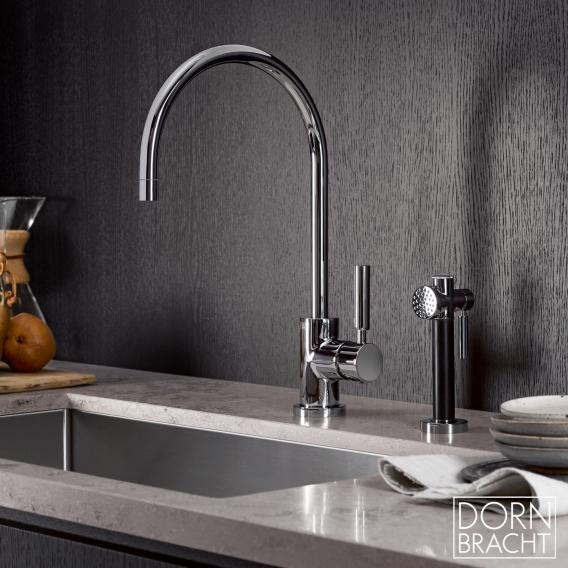 Dornbracht Tara Classic single lever kitchen fitting for combination with shower set chrome