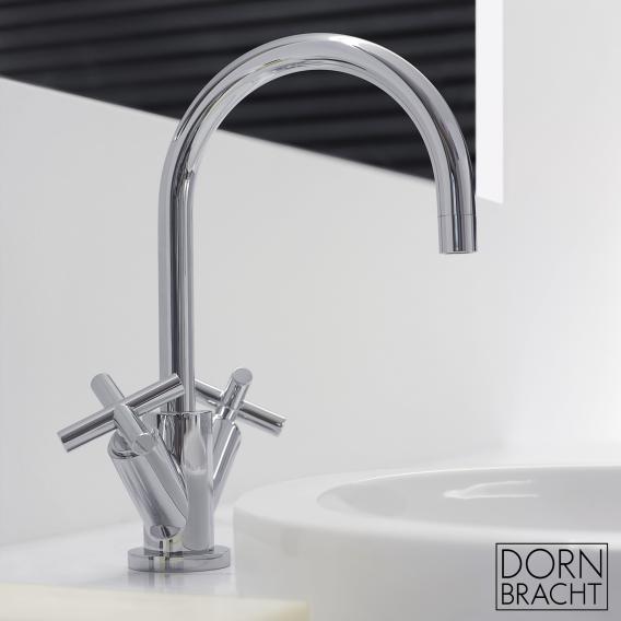 Dornbracht Tara. monobloc basin mixer with pop-up waste chrome