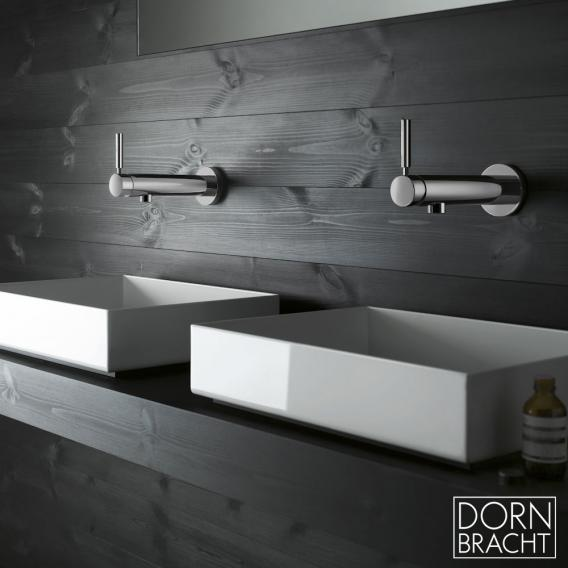 Dornbracht Tara.Logic wall-mounted single lever basin mixer with single fixture projection: 160 mm, chrome