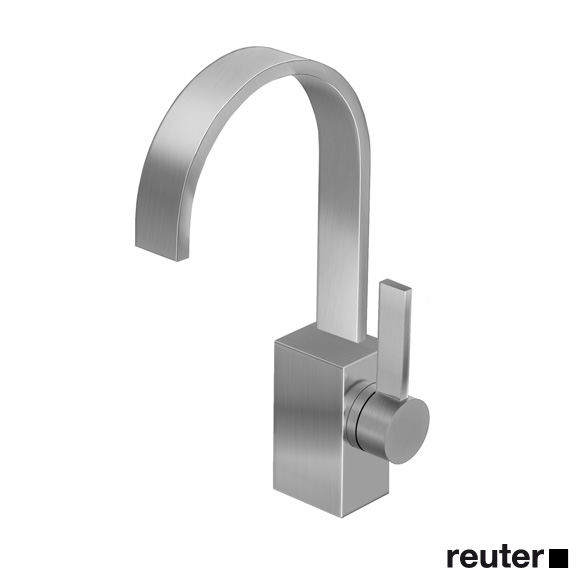 Dornbracht MEM single lever basin mixer without waste set, matt platinum