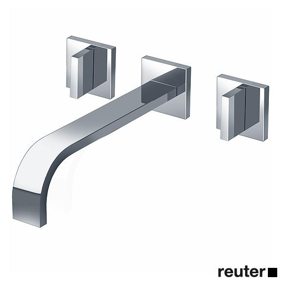 Dornbracht MEM wall-mounted basin mixer with individual escutcheons projection: 240 mm, chrome