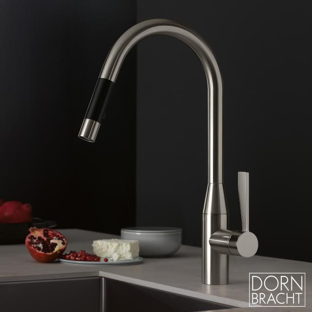 Dornbracht Sync single lever mixer Pull-down with shower function matt platinum