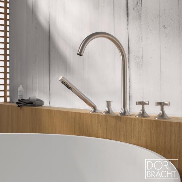 Dornbracht VAIA deck-mounted five-hole bath mixer matt platinum