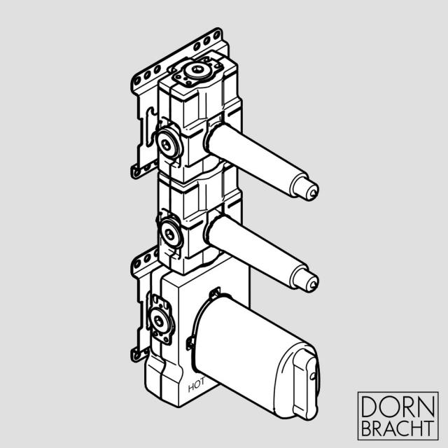 """Dornbracht xTOOL concealed thermostat module with 2 valves 3/4"""""""