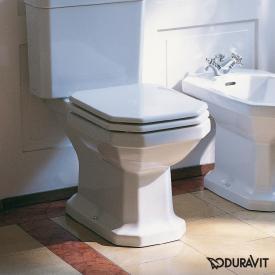 Duravit 1930 floorstanding close-coupled washdown toilet white, with WonderGliss, horizontal outlet