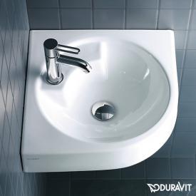 Duravit Architec corner washbasin white, with 1 tap hole