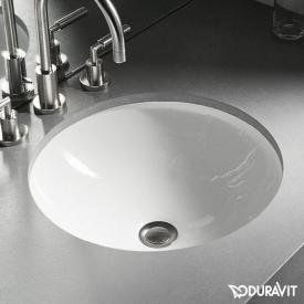 Duravit Architec vanity washbasin, glazed underneath white, with WonderGliss, without tap hole, without overflow