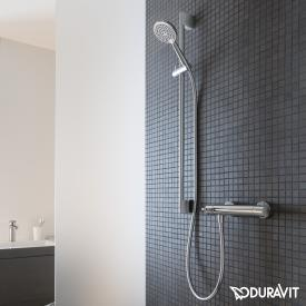 Duravit B.1 exposed shower thermostat with shower set