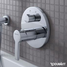 Duravit B.2 concealed, single lever bath mixer, with diverter valve