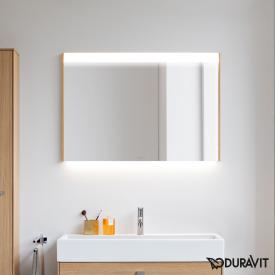 Duravit Brioso mirror with LED lighting european oak