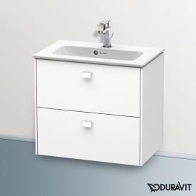 Duravit Brioso vanity unit with 2 pull-out compartments front matt white/corpus matt white, matt white handles