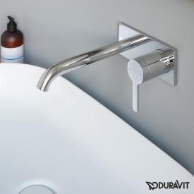 Duravit C.1 concealed, single lever basin mixer chrome, projection: 225 mm