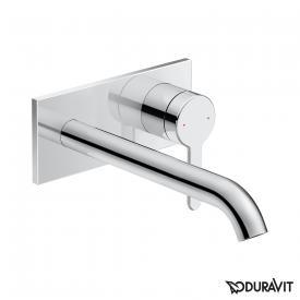 Duravit C.1 concealed, single lever basin mixer chrome, projection: 225 mm