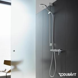 Duravit C.1 exposed single lever shower mixer with shower set