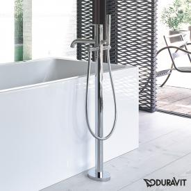 Duravit C.1 floorstanding, single lever bath mixer chrom