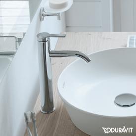 Duravit C.1 single lever basin mixer L chrome, without waste set