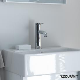 Duravit C.1 single lever basin mixer S chrome, without waste set