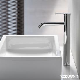 Duravit C.1 single lever basin mixer XL chrome, without waste set