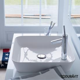 Duravit Cape Cod countertop washbasin white, with WonderGliss