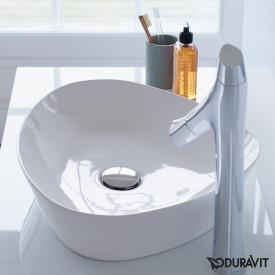 Duravit Cape Cod countertop basin white, with WonderGliss