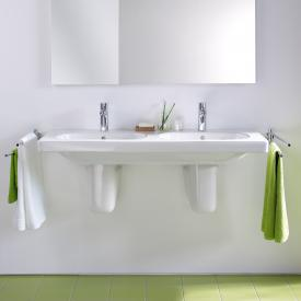 Duravit D-Code double washbasin white, with 2 tap holes
