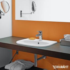Duravit D-Code drop-in washbasin white, with 1 tap hole
