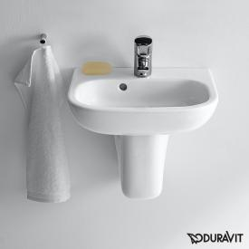 Duravit D-Code hand washbasin white, with 1 tap hole, with overflow