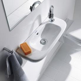 Duravit D-Code hand washbasin white, with tap hole on the right