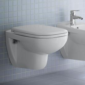 Duravit D-Code wall-mounted washdown toilet set, with toilet seat rimless, white, with HygieneGlaze