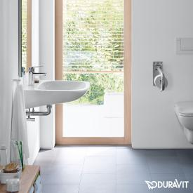 Duravit D-Code washbasin Vital white, with 1 tap hole, with overflow