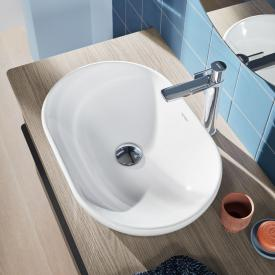 Duravit D-Neo countertop washbasin white, with WonderGliss