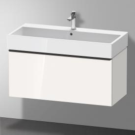 Duravit D-Neo Meuble sous-lavabo avec 1 tiroir Façade blanc ultra brillant/corps du meuble blanc ultra brillant